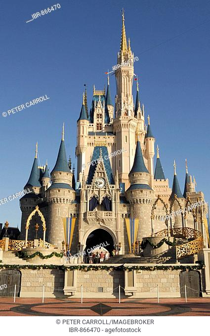 Cinderella's Castle in Walt Disney World, Florida, USA