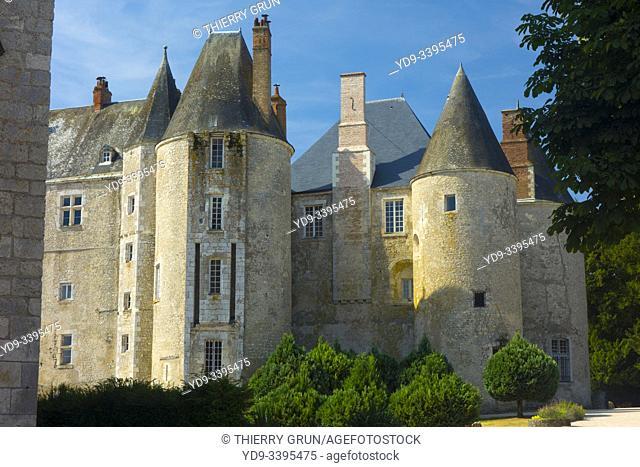 France, Loiret (45), Meung-sur-Loire, castle