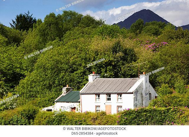 Ireland, County Cork, Glengagariff, traditional house on Bantry Bay