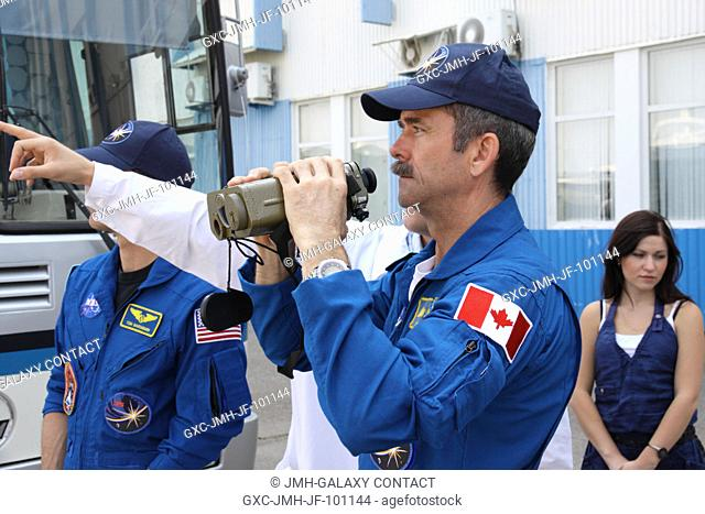 At the Baikonur Cosmodrome in Kazakhstan, Canadian Space Agency Flight Engineer Chris Hadfield, one of the members of the Expedition 32 backup crew