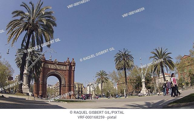 Arc de Triomf, Barcelona, Catalonia, Spain