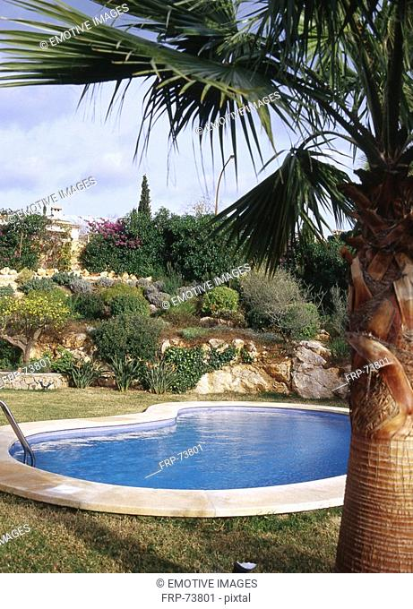 pool with rockery