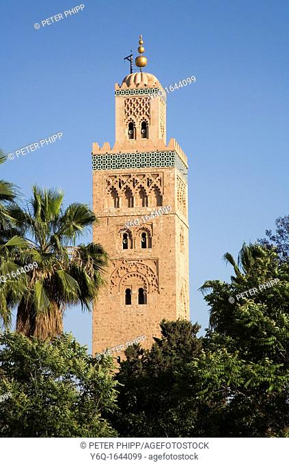 La Koutoubia Mosque in Marrakech  Morocco
