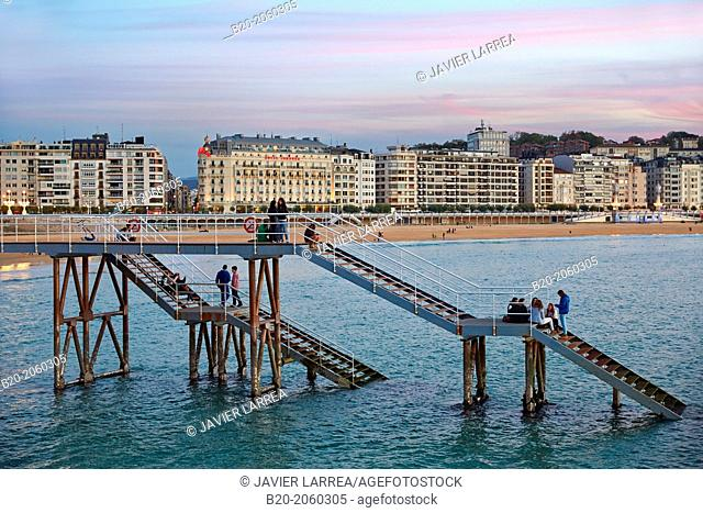 La Concha Bay. Donostia. San Sebastian. Basque Country. Spain