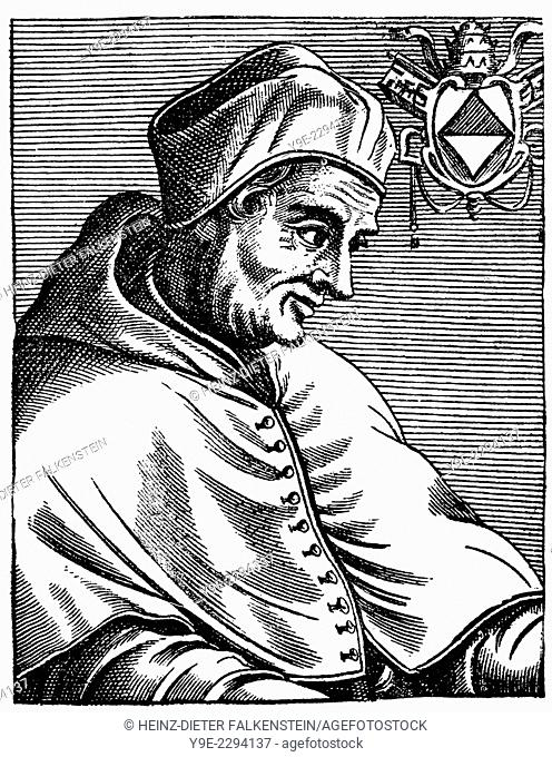 Pope Gregory XII or Gregorius XII, c.†‰1326-1417, born Angelo Corraro, Corario or Correr, Pope from 1406 to 1415, Gregor XII