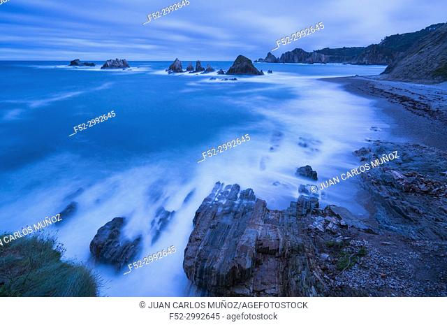 La Gueirúa beach, Santa Marina, Cudillero Council, Cantabrian Sea, Asturias, Spain, Europe