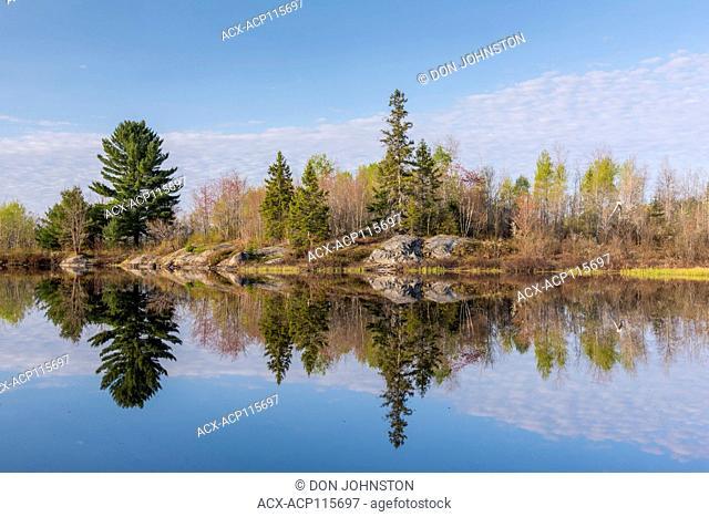 Fairbank Creek on a spring morning, Creighton, Ontario, Canada