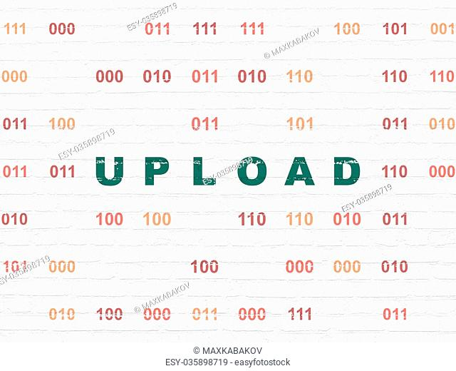 Web development concept: Upload on wall background