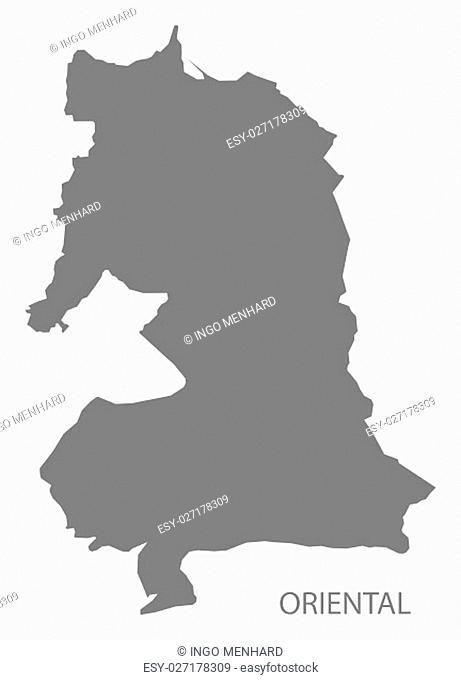Oriental Morocco Map grey