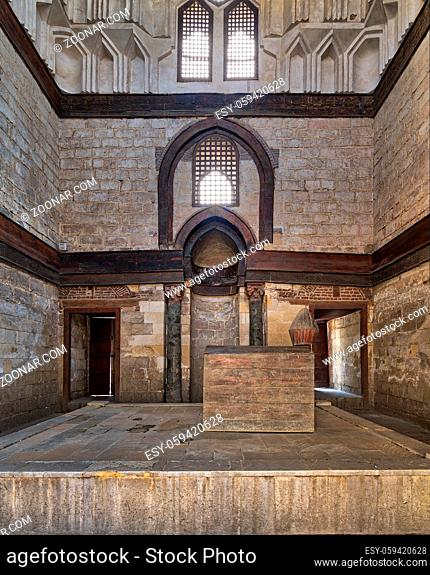 Interior of Mausoleum of al-Nasir Muhammad Ibn Qalawun, Al Muizz Street, Old Cairo, Egypt