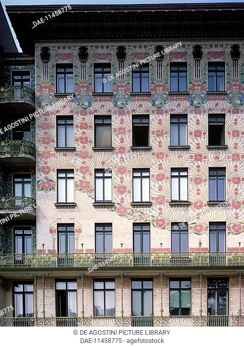 Facade of the Majolica House (1898-1899), by Otto Wagner (1841-1918), Vienna, Austria