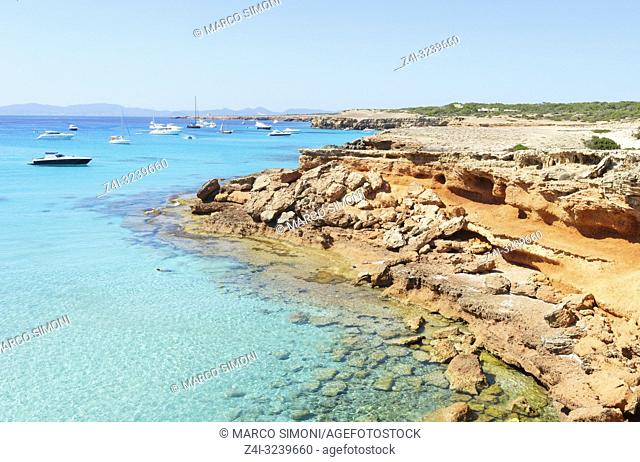 Formentera turquoise waters, Formentera, Baleric Islands, Spain