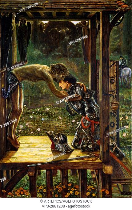 Edward Burne-Jones - The Merciful Knight - Birmingham Museum and Art Gallery