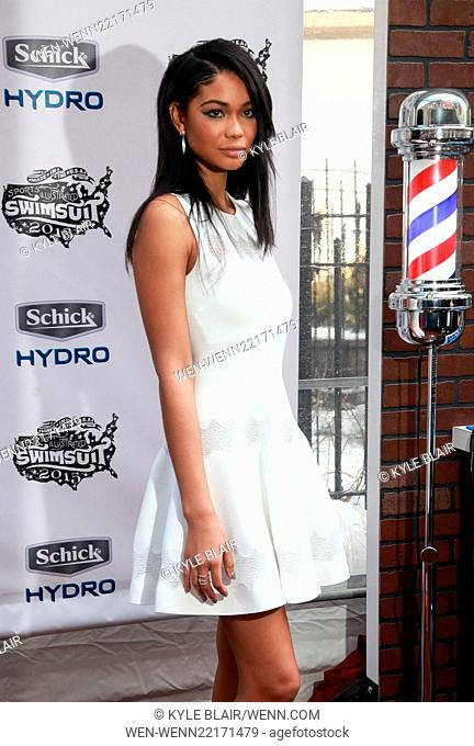 Models attend the Sports Illustrated Swimsuit Magazine Festival at Herald Square in New York City. Featuring: Chanel Iman Where: New York, New York
