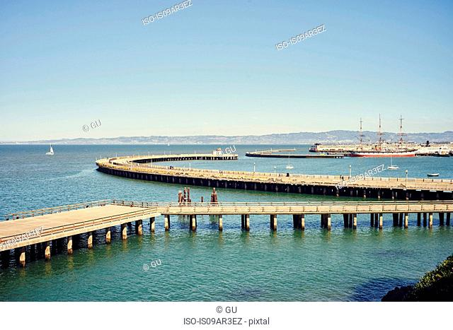 Aquatic park pier, San Francisco, California, USA