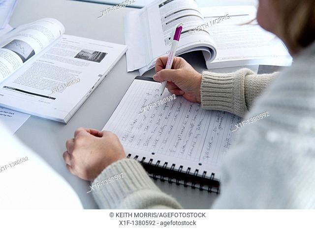 Adult learners at a college of further education UK