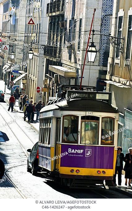 Tramway, Baixa, Lisbon, Portugal