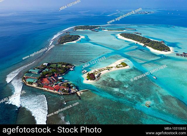 Vacation Island Dhigufinolhu and Veligandu, South Male Atoll, Indian Ocean, Maldives