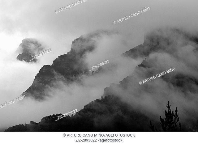 Valley of Escuaín. The Monte Perdido and Ordesa National Park. Huesca province, Spain