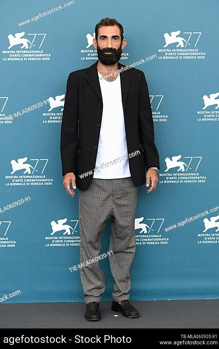 """Marco Zucca attend the photocall of the movie """"""""Assandira"""""""" at the 77th Venice Film Festival on September 06, 2020 in Venice, Italy"""