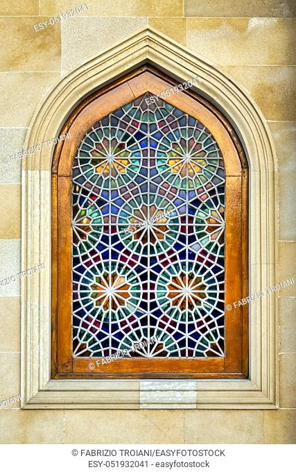 Shabaka are stained glass windows made by national Azeri masters, without glue or nails