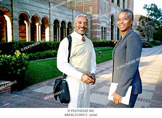 Smiling Black professors