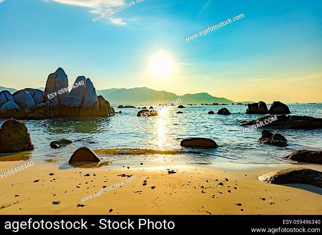 The South China sea off the Vietnamese coast near of Nha Trang