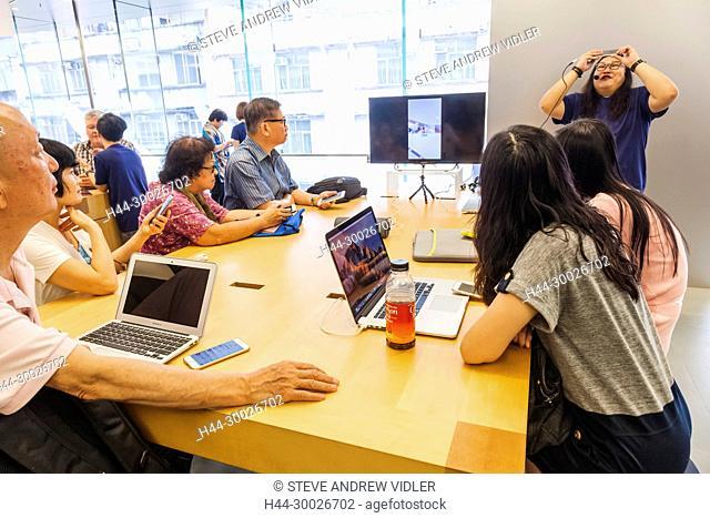 China, Hong Kong, Causeway Bay, Apple Store, Computer Class