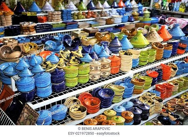 africa and tunis colorful ceramics