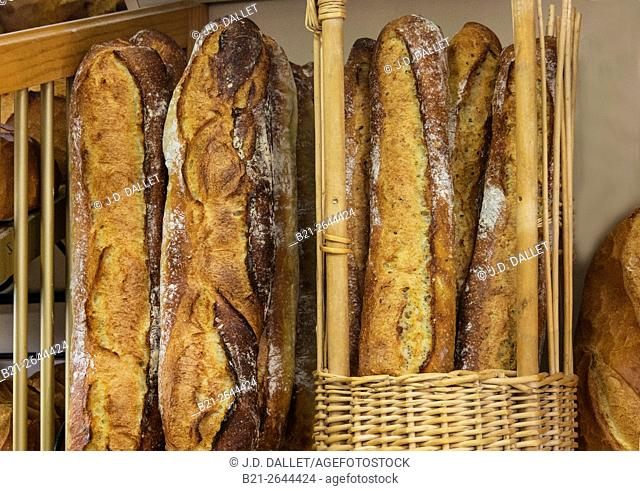 Baguettes, French breads