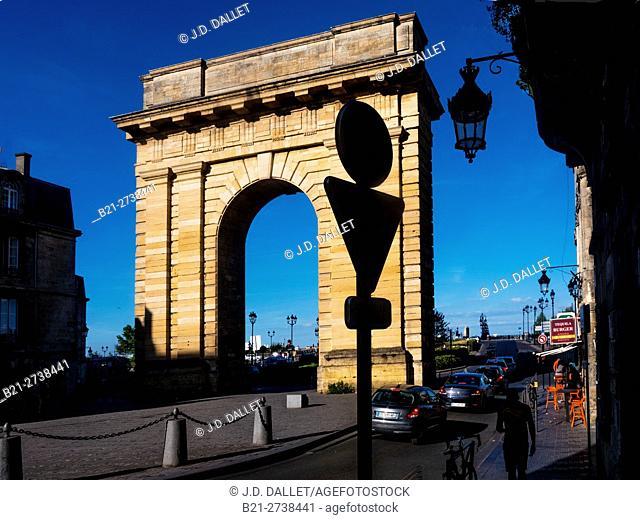 Porte de Bourgogne (1751-1755) at Bordeaux, Gironde, Aquitaine, France