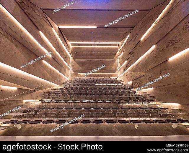 Blaibach concert hall, concert hall inside, Blaibach, Bavarian Forest, Bavaria, Germany
