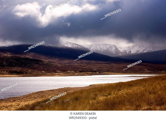 Stormy Scottish Highlands, Scotland. United Kingdom, Europe