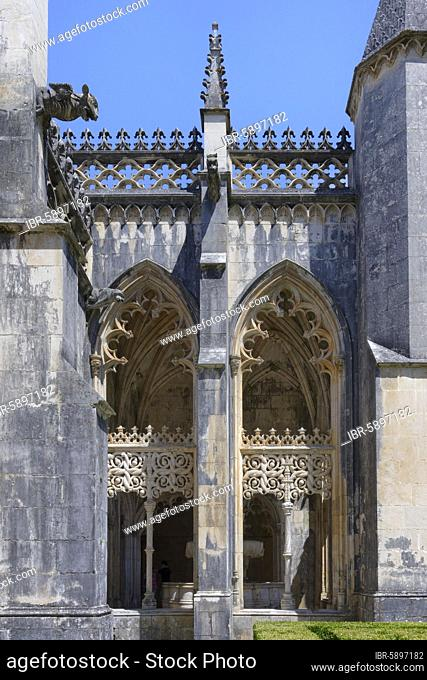 King Joao I Cloister, Dominican Monastery of Batalha or Saint Mary of the Victory Monastery, Batalha, Leiria district, Portugal, Europe