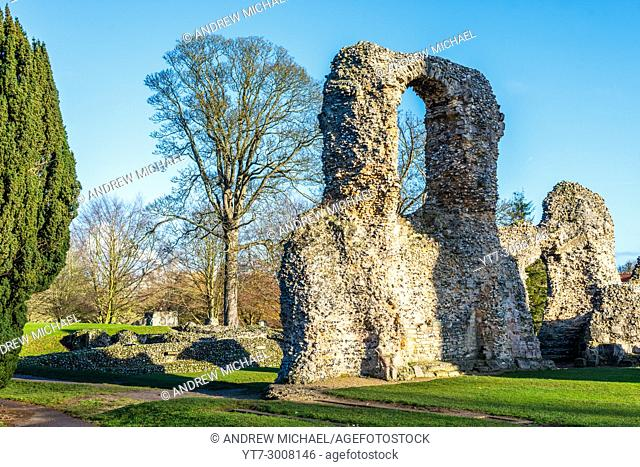 In the heart of Bury St Edmunds, Suffolk, the abbey was once one of the richest and most powerful Benedictine monasteries in England