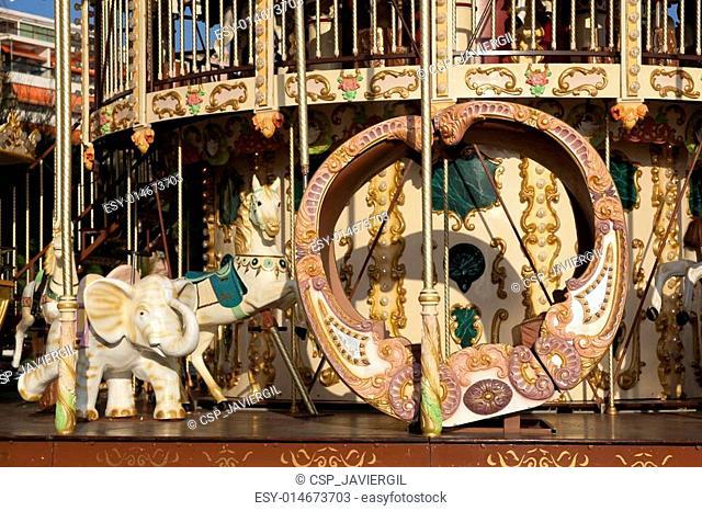 Carousel in San Sebastian, Gizpuzkoa, Basque Country, Spain