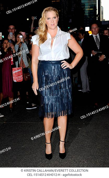 Amy Schumer at arrivals for Zac Posen Spring & Summer 2016 Fashion Collection Presentation, Vanderbilt Hall at Grand Central Terminal, New York, NY September 14