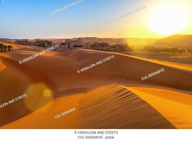 Rub al-Khali desert, empty quarter, Liwa desert, Qasr Al Sarab Desert Resort, United Arab Emirates