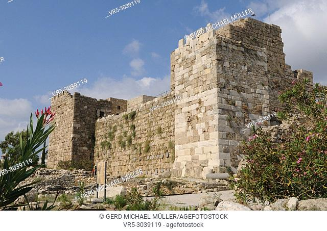 Lebanon: The historic village Byblos with the castle has an old history that goes back to five thousen years b. c