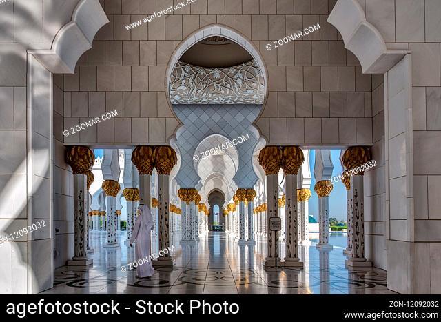 Sheikh Zayed Grand Mosque. Scheich-Zayid-Moschee. Abu Dhabi