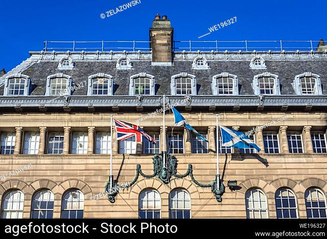 The Church of Scotland head office building on George Street in New Town district of Edinburgh, the capital of Scotland, part of United Kingdom