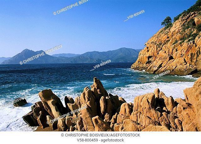 Ficajola beach. Corse-du-Sud, Corsica Island, France