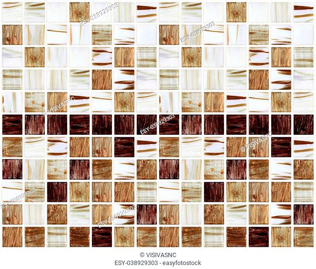 small marble square tiles with brown color effects