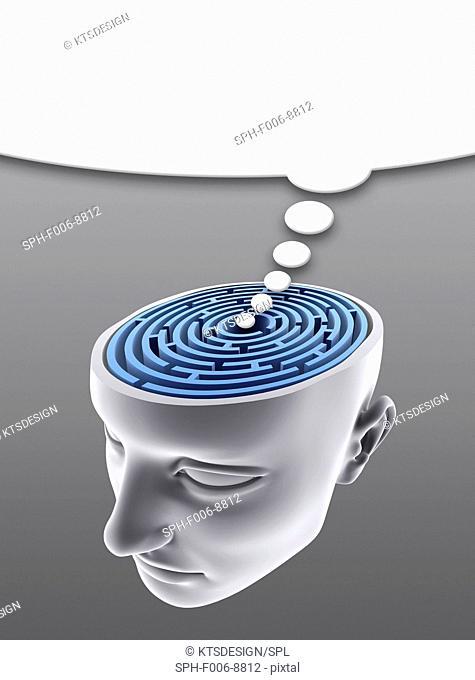 Confusion, conceptual computer artwork