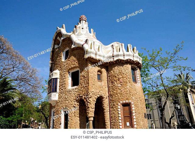 Building in Park G�ell, Barcelona Spain