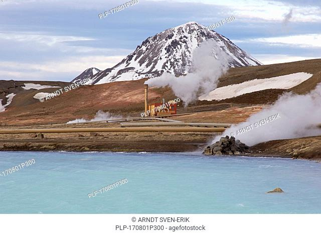 Bjarnarflag Geothermal power station / Bjarnarflagsvirkjun, operated by Landsvirkjun near Námafjall Mountain in the geothermal area of Mývatn, Iceland