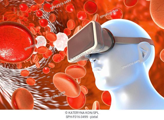 VR in healthcare, illustration