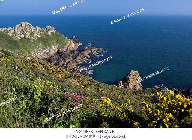 United Kingdom, Channel Islands, Guernsey island, Saint Martin, Fermain bay