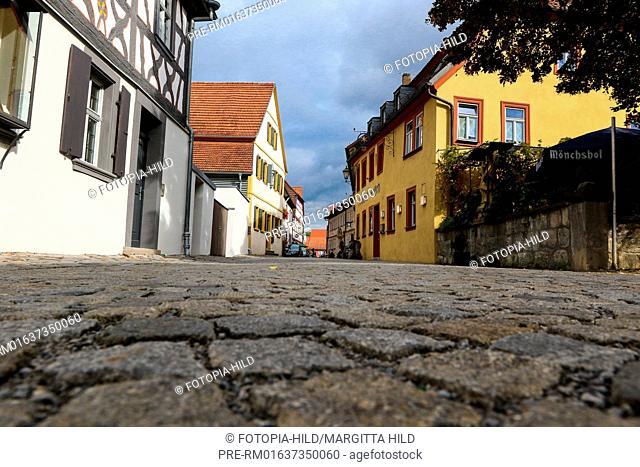 Maxstrasse, Iphofen, Kitzingen district, Lower Franconia, Bavaria, Germany / Maxstrasse, Iphofen, Landkreis Kitzingen, Unterfranken, Bayern, Deutschland