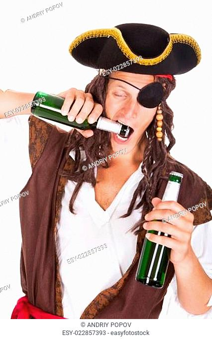 Pirate Drinking Beer